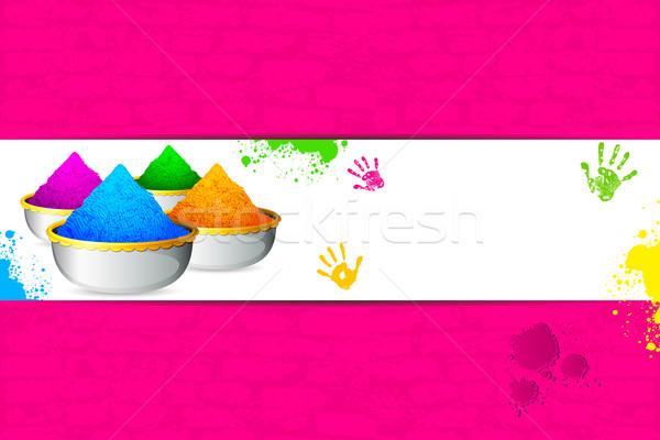 Holi Background Stock photo © vectomart