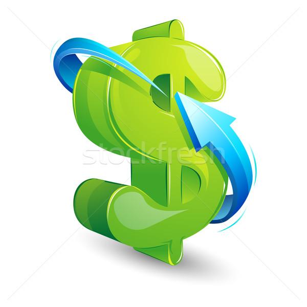 矢印 周りに ドル 実例 白 ストックフォト © vectomart