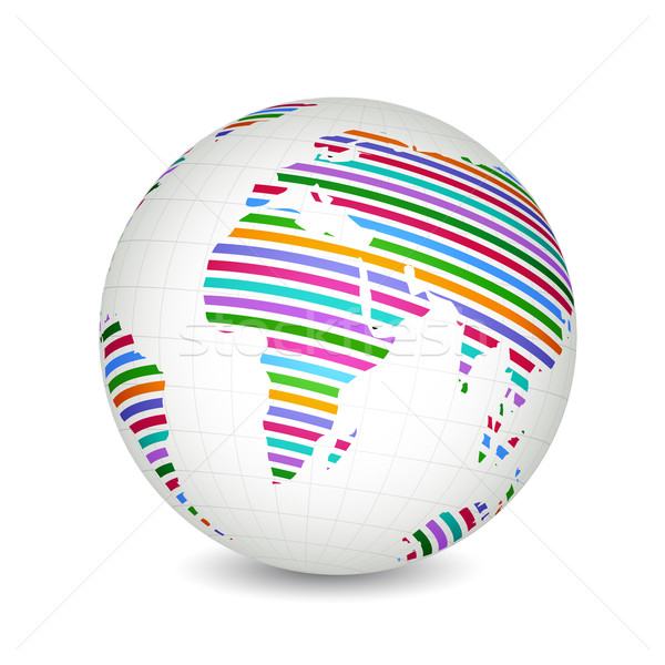 Colorful Globe Stock photo © vectomart