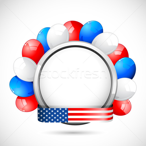 American Badge with Ballon Stock photo © vectomart