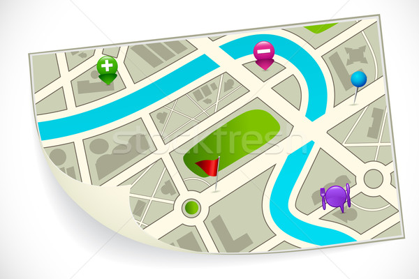 Road Route Map Stock photo © vectomart
