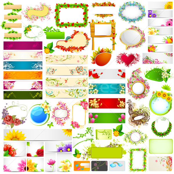 Colorful floral banner jumbo collection Stock photo © vectomart