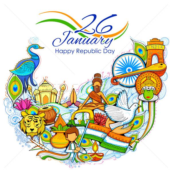 Indie nieprawdopodobny kultury różnorodności festiwalu Zdjęcia stock © vectomart
