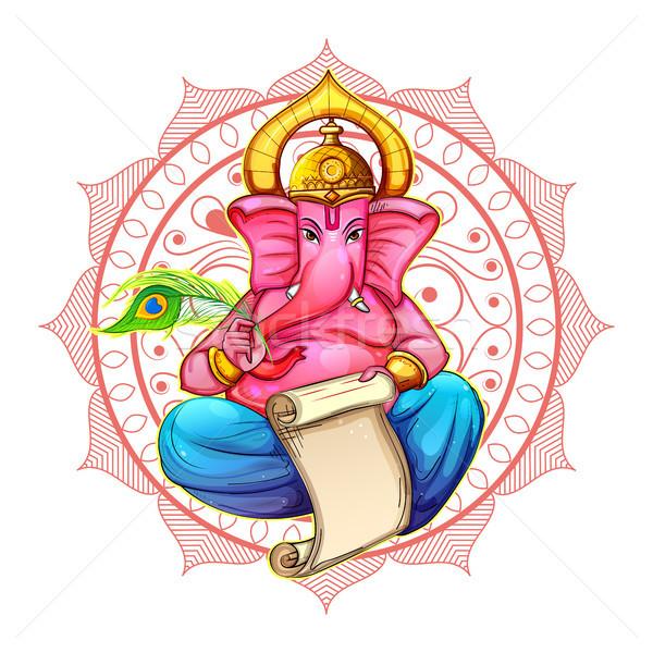 Ilustracja festiwalu boga posąg asia twórczej Zdjęcia stock © vectomart