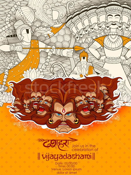 Ravana with ten heads for Dussehra Stock photo © vectomart