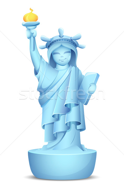 Model of Statue of Liberty Stock photo © vectomart