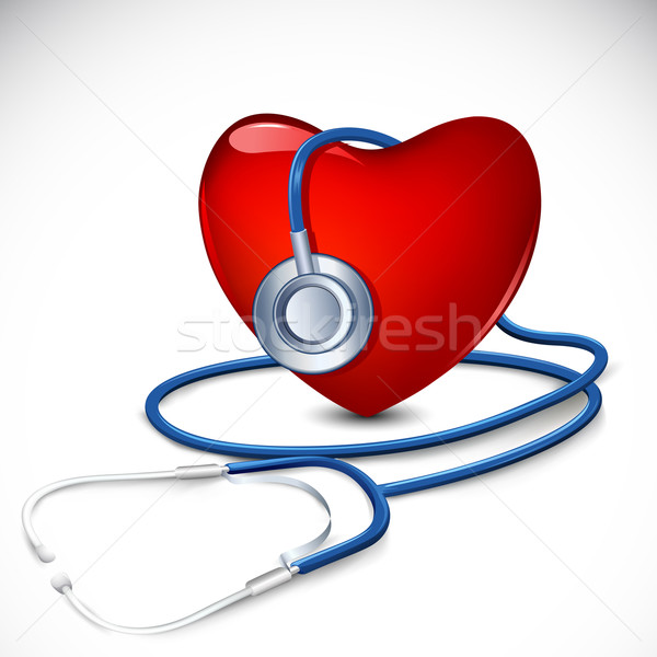 Stethoscope around Heart Stock photo © vectomart