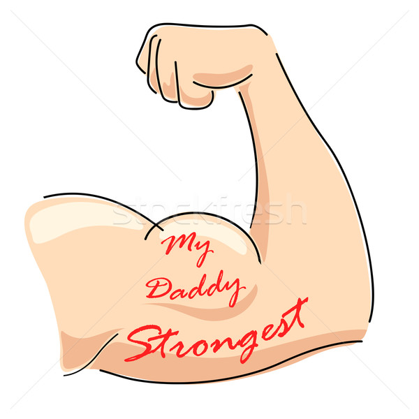 My Daddy Strongest Stock photo © vectomart