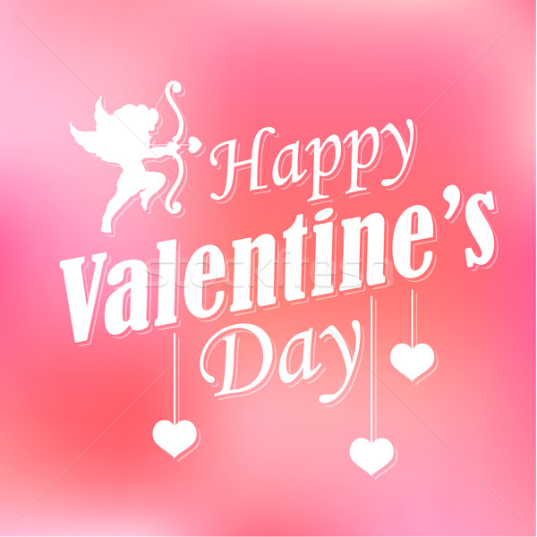 Boldog valentin nap illusztráció szív háttér fiú Stock fotó © vectomart