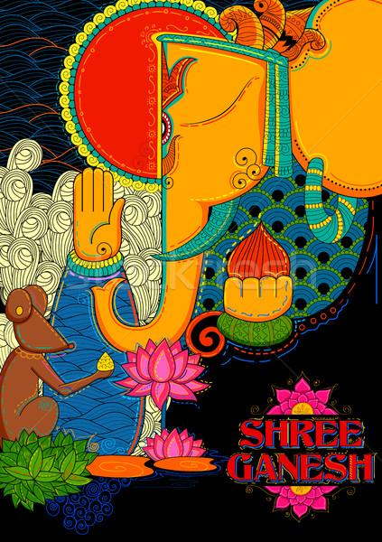 Illustrazione culto elefante indian Asia religione Foto d'archivio © vectomart