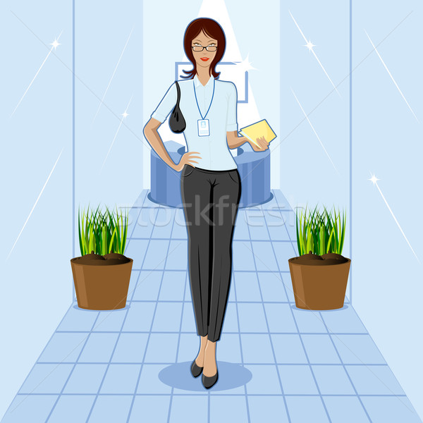 Lady in Office Stock photo © vectomart