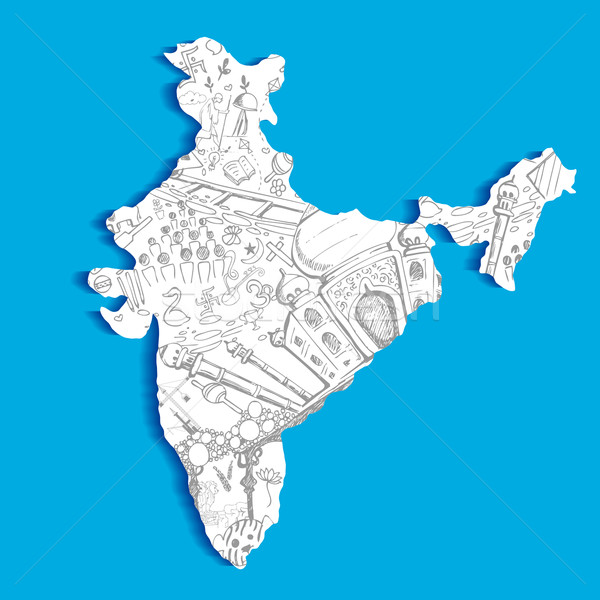 Stock photo: Indian Map