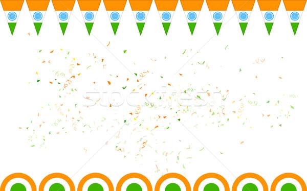 Driekleur Indië banner verkoop promotie illustratie Stockfoto © vectomart