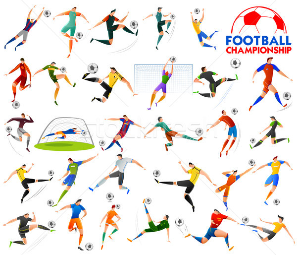 Stock photo: Football Championship Cup soccer sports background for 2018