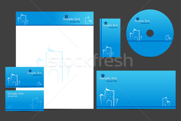 Business sjabloon illustratie dekken brief hoofd Stockfoto © vectomart