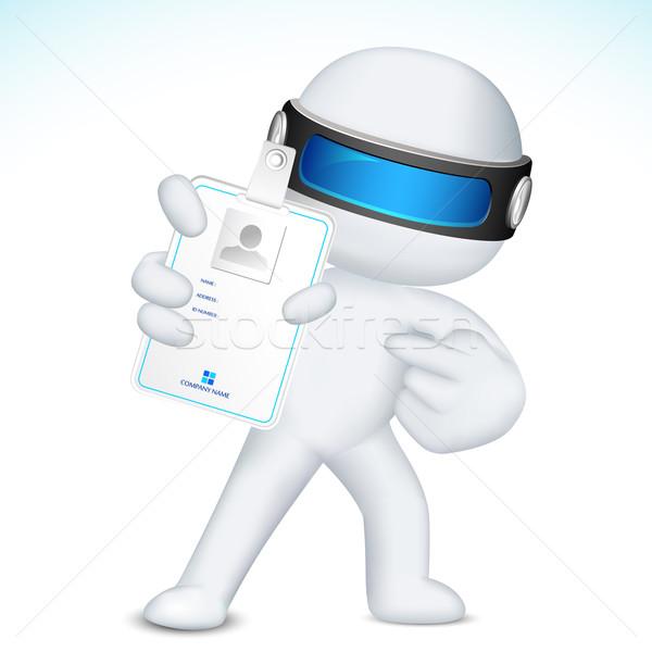 Foto stock: Hombre · 3d · vector · carnet · de · identidad · ilustración · 3D