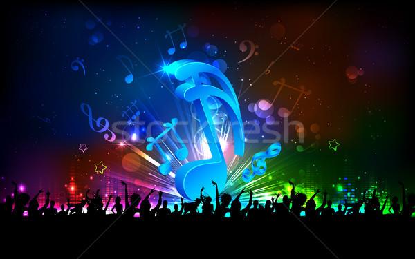 Festa fundo abstrato nota Foto stock © vectomart