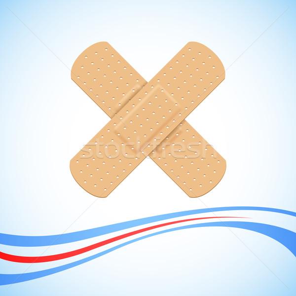 Medical Bandage Cross Stock photo © vectomart
