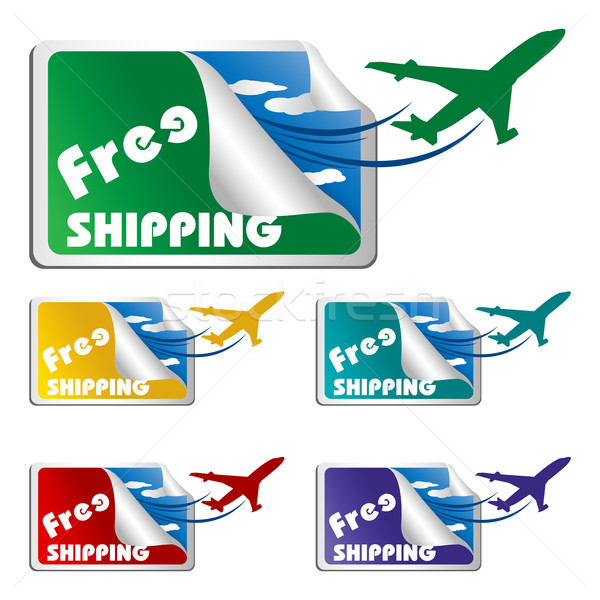 Free Shipping Tags Stock photo © vectomart