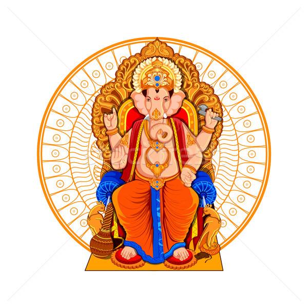Ilustración festival dios elefante estatua Asia Foto stock © vectomart