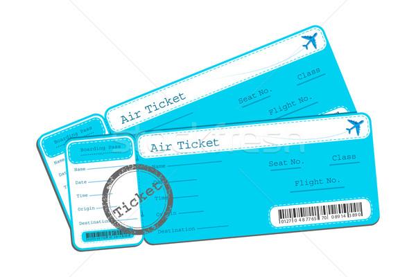 Vlucht ticket illustratie geïsoleerd ontwerp achtergrond Stockfoto © vectomart
