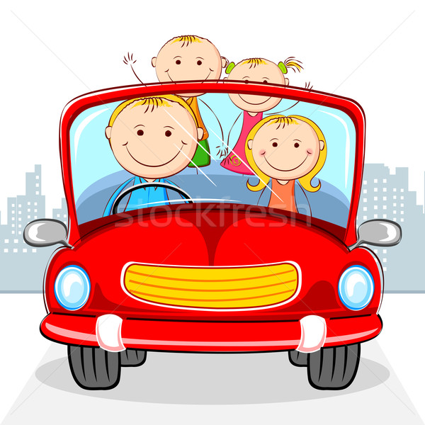 Family in Car Stock photo © vectomart