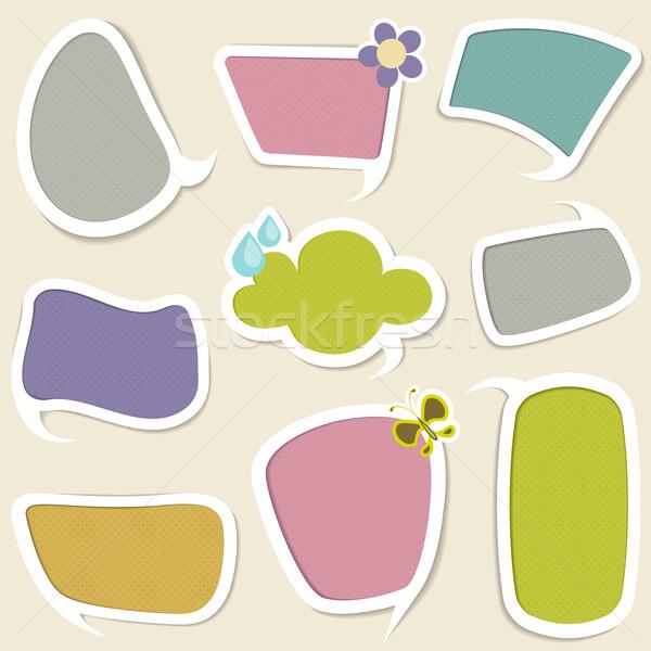Czat bańki ilustracja inny kolorowy wzór papieru Zdjęcia stock © vectomart