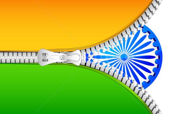 Rits Indië vlag illustratie Open kunst Stockfoto © vectomart