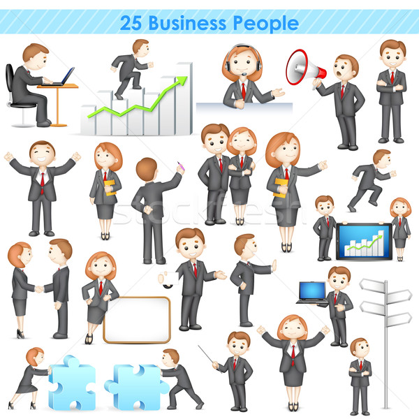 3d Businesspeople Collection Stock photo © vectomart