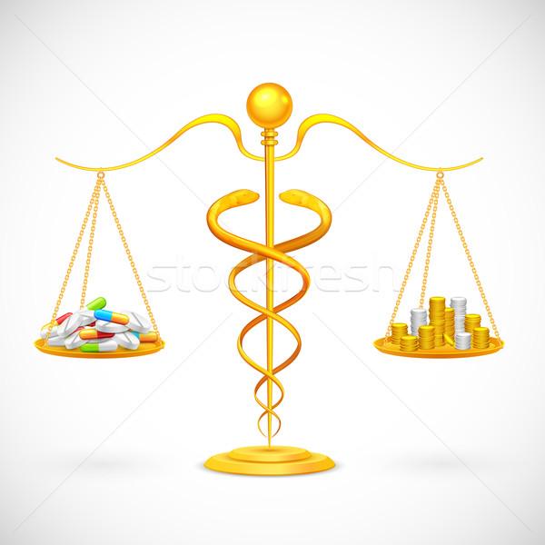 Medycznych ilustracja równowagi muzyka Zdjęcia stock © vectomart