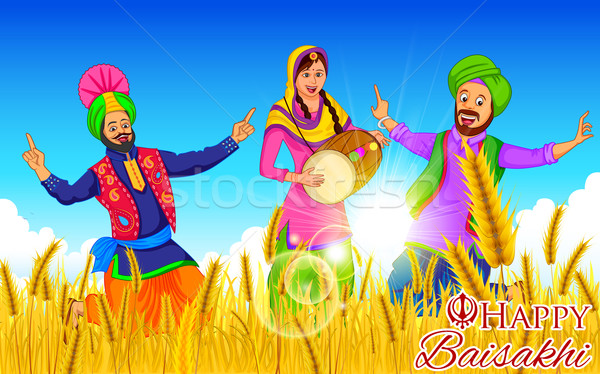 Happy Baisakhi background Stock photo © vectomart