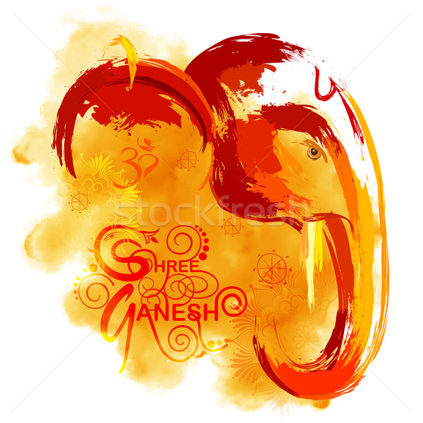 Lord Ganapati background for Ganesh Chaturthi in paint style Stock photo © vectomart