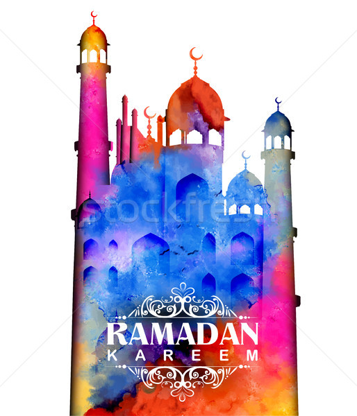 Ramadan généreux arabe mosquée illustration Photo stock © vectomart