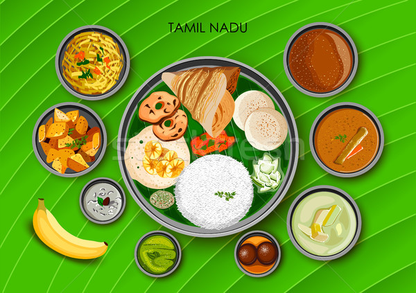Curry stock vectors illustrations and cliparts stockfresh for Aharam traditional cuisine of tamil nadu