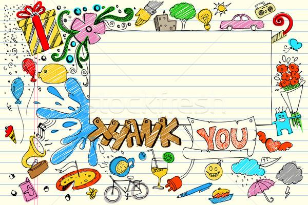 Thank You Doodle Stock photo © vectomart