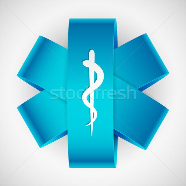 Medycznych symbol ilustracja papieru wąż Stick Zdjęcia stock © vectomart