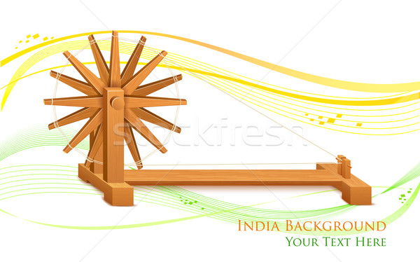 Spinning Wheel on India background Stock photo © vectomart