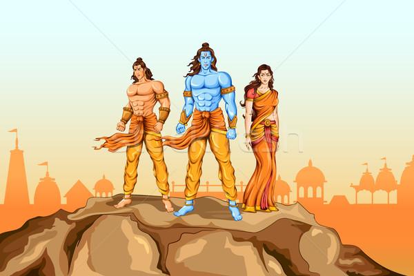 Poster örnek arka plan Tanrı Hint tatil Stok fotoğraf © vectomart