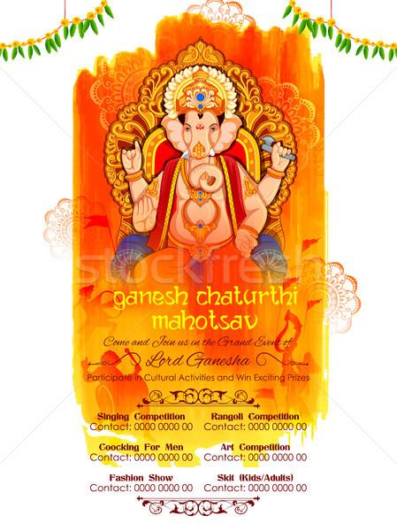 Ilustración festival culto elefante estatua religiosas Foto stock © vectomart