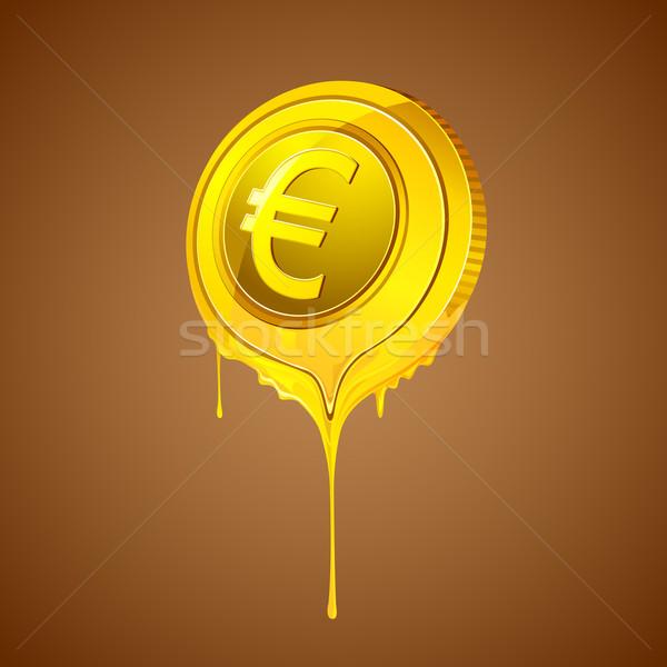 Melting Euro Stock photo © vectomart