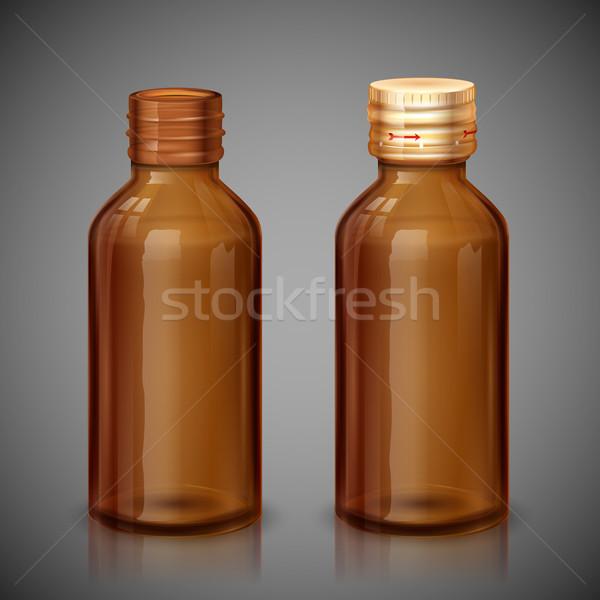 Medicine Syrup Bottle Stock photo © vectomart