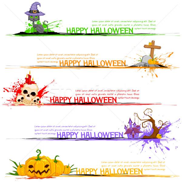 Happy Halloween Header Stock photo © vectomart
