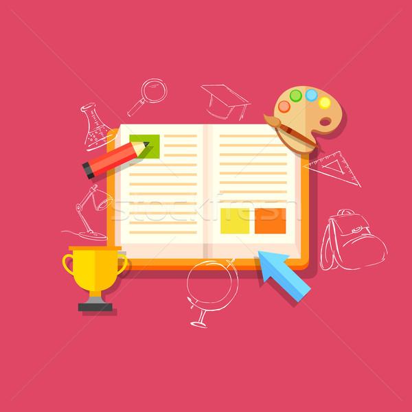 Eğitim örnek stil Internet okul öğrenci Stok fotoğraf © vectomart