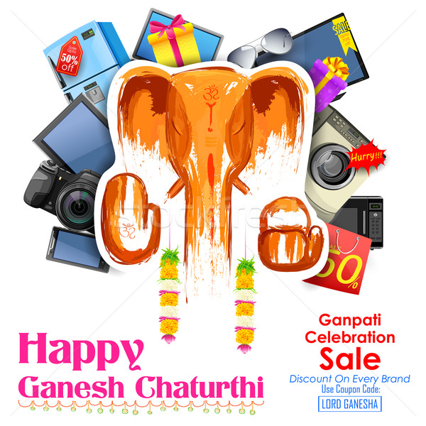 Stock photo: Happy Ganesh Chaturthi sale offer