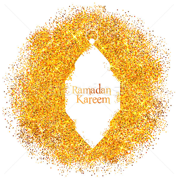 Ramadan Kareem Generous Ramadan greetings with illuminated lamp Stock photo © vectomart