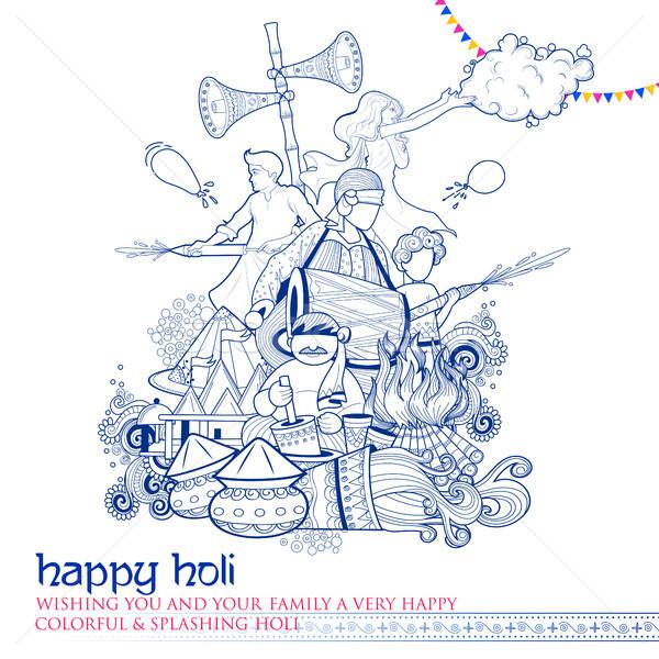 Boldog firka fesztivál színek ünneplés üdvözlet Stock fotó © vectomart