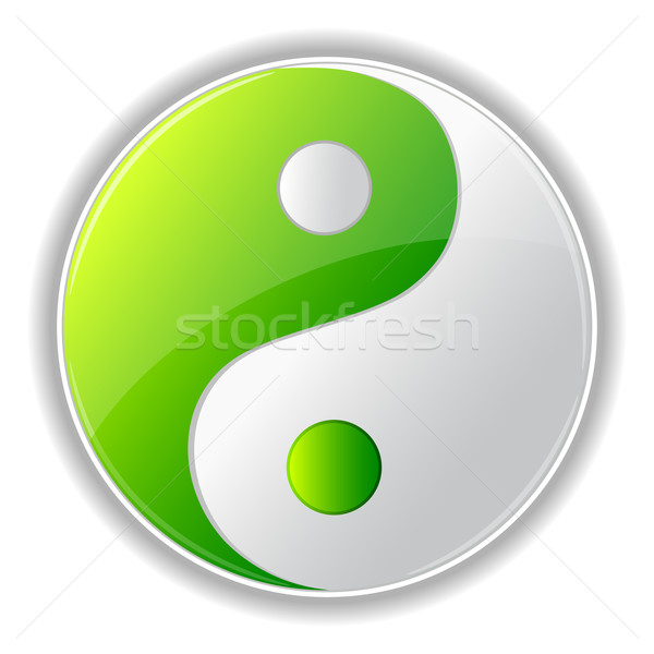 Yin yang illustration symbole blanche design for Architecture yin yang