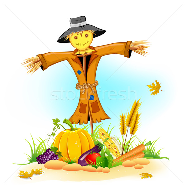 Scarecrow with Vegetable Stock photo © vectomart