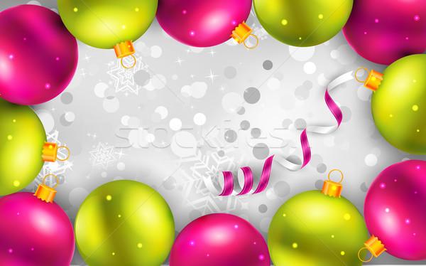 Renkli Noel önemsiz şey örnek soyut parti Stok fotoğraf © vectomart