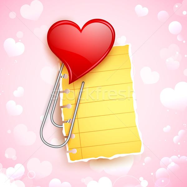 формы сердца скрепку иллюстрация любви сердце дизайна Сток-фото © vectomart